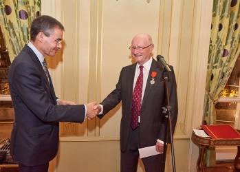 20151116 – Ehrenverleihung Dr. Manfred Kunze, Vize-Präsident der CCFA (organisiert von der Französischen Botschaft und vom Club der Ehrenlegionäre)